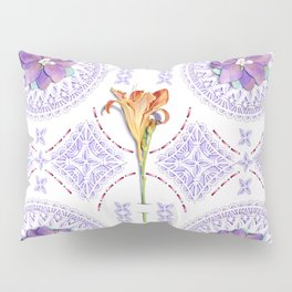 Gothic Revival Daylily Lace Pillow Sham