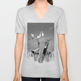 Night elefant Unisex V-Neck
