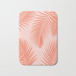 Coral Palms ~ Summer Tropical Pattern Bath Mat