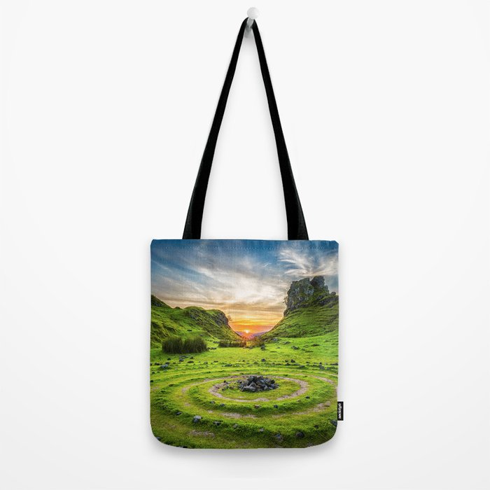 Green nature circle Tote Bag