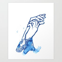 waves hands I Art Print
