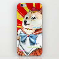 doge iPhone & iPod Skins featuring Sailor Doge by Michael Thomas Grant