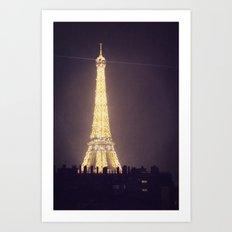 Paris Glow Art Print