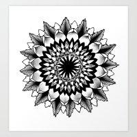 flower mandala Art Print