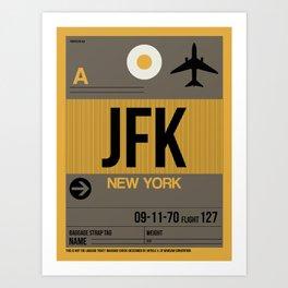 JFK New York Luggage Tag 3 Art Print