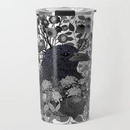 Raven in the Garden of Departed Botanicals Travel Mug