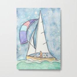 Mystic Sail Metal Print