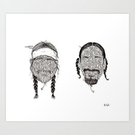 BEST BUDS Art Print