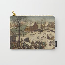 Pieter Bruegel The Elder - The Numbering At Bethlehem Carry-All Pouch