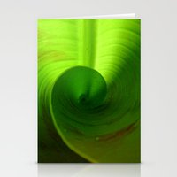 banana leaf Stationery Cards featuring Banana Leaf II by moo2me