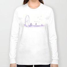 Watercolor landscape illustration_London Eye Long Sleeve T-shirt