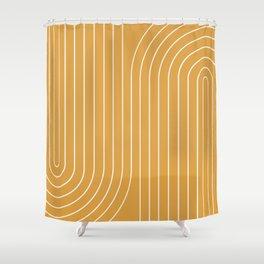 Minimal Line Curvature VIII Shower Curtain