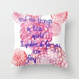 Few Throw Pillow