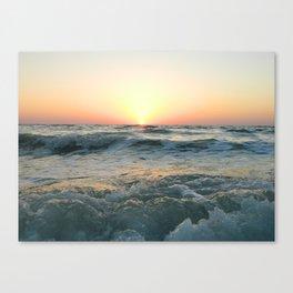 Sunsetting into Sea Canvas Print