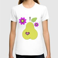 pear T-shirts featuring pear by snorkdesign