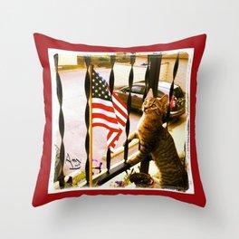 i pledge allegiance... Throw Pillow