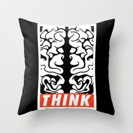 thinkDifferently Throw Pillow