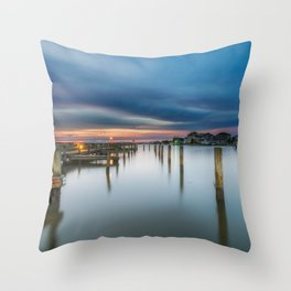 Sunset over the Sound Throw Pillow