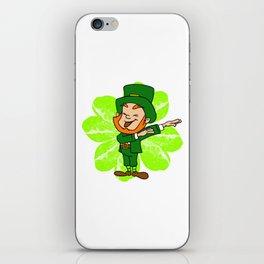 Dabbing Leprechaun St Patricks Day Gold Pot iPhone Skin