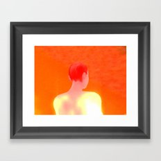 Orange A Framed Art Print