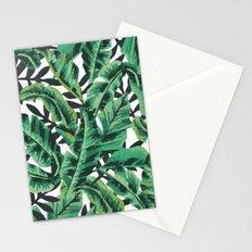 Tropical Glam Banana Leaf Print Stationery Cards