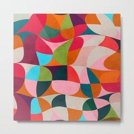 shapes spring colors Metal Print