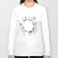 globe Long Sleeve T-shirts featuring globe  by Naja