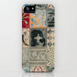 Moroccan vintage multicolor tiles by LikaRamati iPhone Case