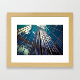 architecture skyscraper Framed Art Print