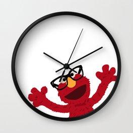 Hipster Elmo Wall Clock