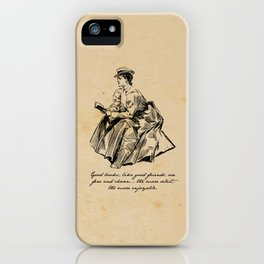 Lousia May Alcott - Good Books iPhone Case