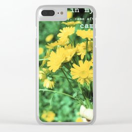 spring lover Clear iPhone Case
