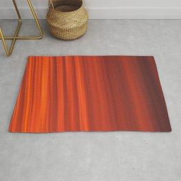 Red & Orange Sunset Stripes Rug