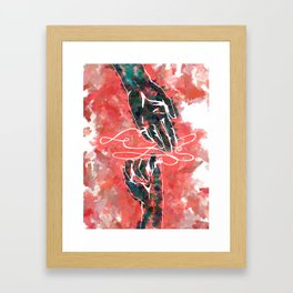 Akai Ito - Red String of Fate Framed Art Print