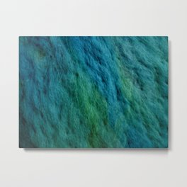 Ocean water wool Metal Print