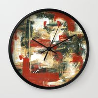 moulin rouge Wall Clocks featuring Rouge by MelissaBeaulieu