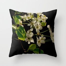 Crabapple Tree Throw Pillow