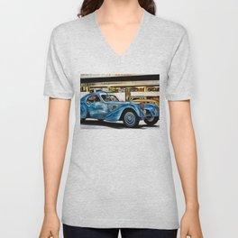 Vintage 1938 French Model Type 57 Atlantic Sports Coupe Painting Unisex V-Neck