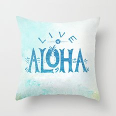 Live Aloha Throw Pillow