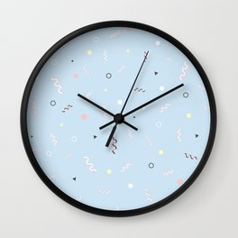 Messy Pattern_Blue Version Wall Clock