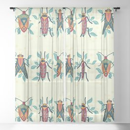 Playful Bug Garden Sheer Curtain