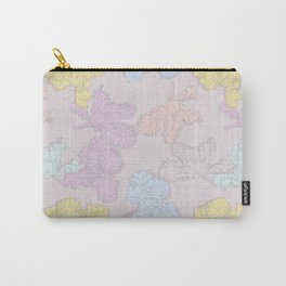 """Merci"" (Irises pattern) Carry-All Pouch"