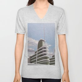 PAN PACIFIC AUDITORIUM COLOR Unisex V-Neck