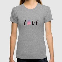 Alabama Love - Sunset Watercolor State T-shirt