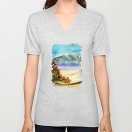 Calvin And Hobbes Look To The Something Unisex V-Neck