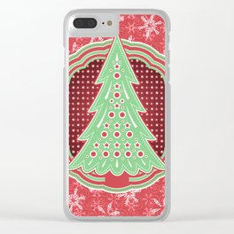 Xmastrees_03a Clear iPhone Case