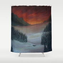 A Winter Wonderland Shower Curtain