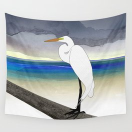 American Great Egret Wall Tapestry