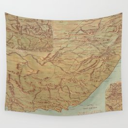 Vintage Map of South Africa (1899) Wall Tapestry