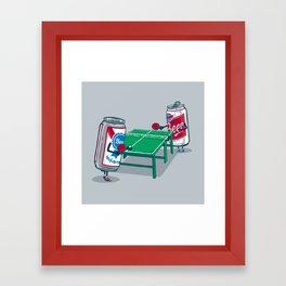 Beer Pong Framed Art Print